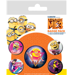 Despicable Me 3 Pin Badges 5-Pack 80s Vibe