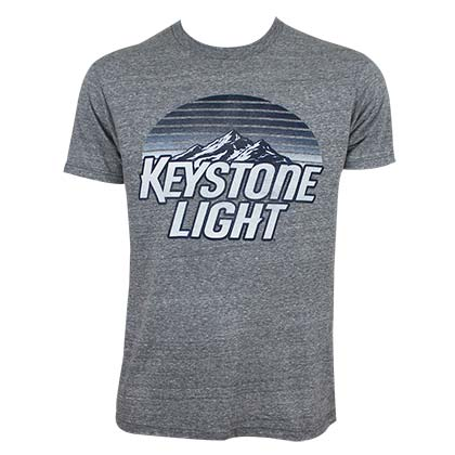 KEYSTONE LIGHT Striped Logo Tee Shirt