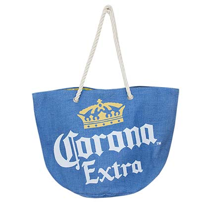 CORONA EXTRA Blue Beach Tote Bag