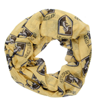 HARRY POTTER All-over Hufflepuff House Badge Crest Viscose Scarf, Yellow