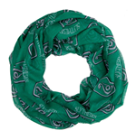 HARRY POTTER All-over Slytherin House Badge Crest Viscose Scarf, Green