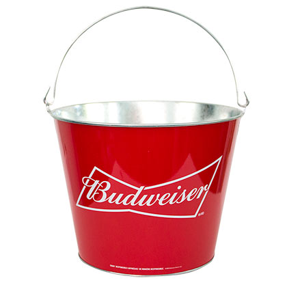 BUDWEISER Red Beer Bucket