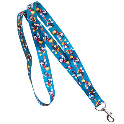 Mickey Mouse Blue Lanyard