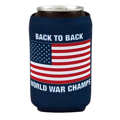 PATRIOTIC Back To Back World War Champs Can Cooler