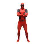 MARVEL COMICS Deadpool Basic Adult Cosplay Costume Morphsuit, Large, Multi-Colour