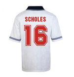 Score Draw England World Cup 1990 Home Shirt (Scholes 16)