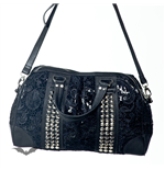 Studded Hand Bag with Lace