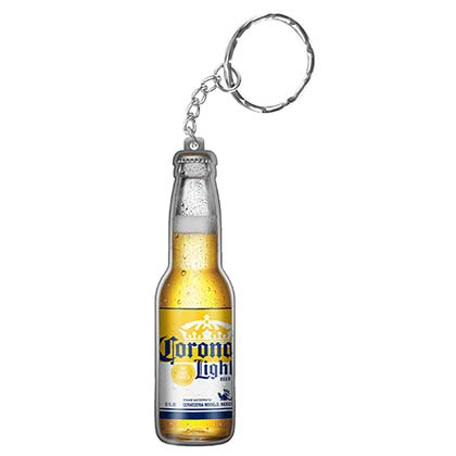 Corona Light Beer Bottle Keychain Opener