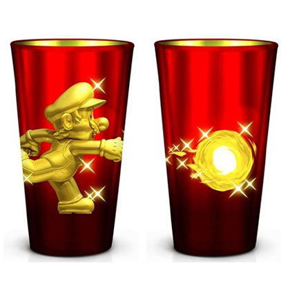 Nintendo MARIO Metallic Pint Glass