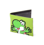 NINTENDO Super Mario Bros. Yoshi PVC Patch Bi-fold Wallet, Green/Black