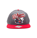 NINTENDO Super Mario Bros. Mario Kart Winner Snapback Baseball Cap, One Size, Grey/Red