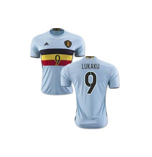 new styles 339eb 4a062 2016-2017 Belgium Away Shirt (Lukaku 9)