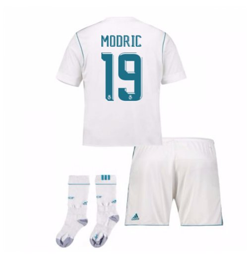 2017-17 Real Madrid Home Full Kit (Modric 19)