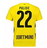 2017-18 Borussia Dortmund Home Short Sleeve Shirt (Pulisic 22)