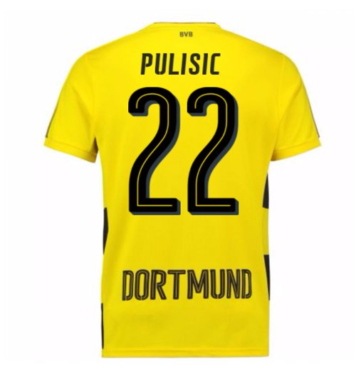 2017-18 Borussia Dortmund Home Short Sleeve Shirt (Kids) (Pulisic 22)