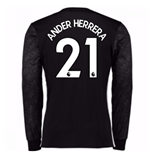 2017-18 Man Utd Away Long Sleeve Shirt (Kids) (Ander Herrera 21)