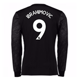 2017-18 Man Utd Away Long Sleeve Shirt (Kids) (Ibrahimovic 9)