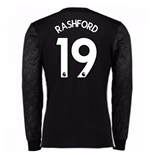2017-18 Man Utd Away Long Sleeve Shirt (Kids) (Rashford 19)