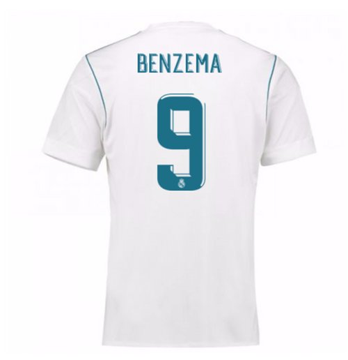 2017-18 Real Madrid Home Shirt (Benzema 9)