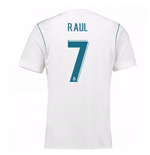 2017-18 Real Madrid Home Shirt (Raul 7)