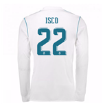 2017-18 Real Madrid Long Sleeve Home Shirt - Kids (Isco 22)
