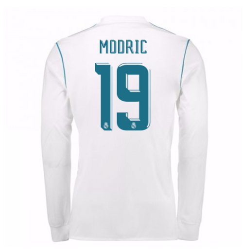 2017-18 Real Madrid Long Sleeve Home Shirt (Modric 19)