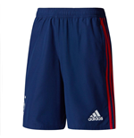 2017-2018 Ajax Adidas Woven Shorts (Dark Blue)