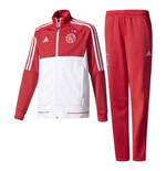 2017-2018 Ajax Adidas PES Tracksuit (Red) - Kids