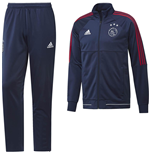 2017-2018 Ajax Adidas PES Tracksuit (Dark Blue) - Kids