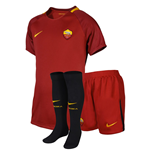 2017-2018 AS Roma Home Nike Little Boys Mini Kit