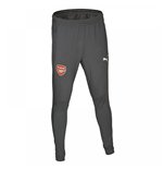 2017-2018 Arsenal Puma Fitted Training Pants with Pockets (Dark Shadow) - Kids
