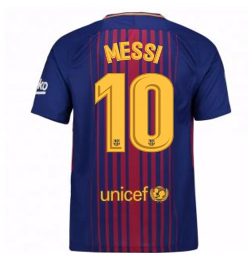 2017-2018 Barcelona Home Shirt (Messi 10)