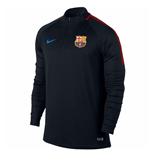 2017-2018 Barcelona Nike Drill Training Top (Black)