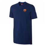 2017-2018 Barcelona Nike Authentic Polo Shirt (Royal)