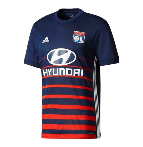 2017-2018 Olympique Lyon Adidas Away Football Shirt
