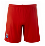 2017-2018 Olympique Lyon Adidas Away Shorts (Red)