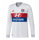 2017-2018 Olympique Lyon Adidas Home Long Sleeve Shirt