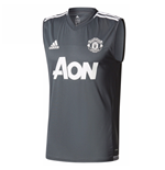 2017-2018 Man Utd Adidas Sleeveless Training Shirt (Night Grey)