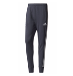 2017-2018 Man Utd Adidas Sweat Pants (Night Grey)