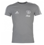 2017-2018 Man Utd Adidas Training Tee (Grey)
