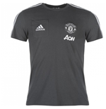 2017-2018 Man Utd Adidas Training Tee (Night Grey)