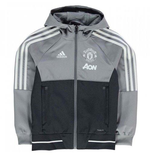 b9ae2025be1 Buy 2017-2018 Man Utd Adidas Presentation Jacket (Grey) - Kids