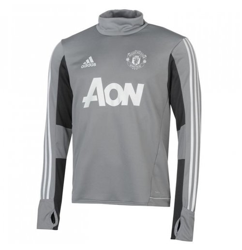 2017-2018 Man Utd Adidas Training Top (Grey) - Kids