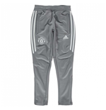 2017-2018 Man Utd Adidas Training Pants (Grey) - Kids