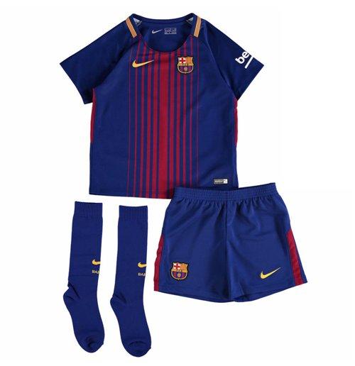 hot sale online 3e4cf f426d 2017-2018 Barcelona Home Nike Little Boys Mini Kit