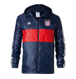 2017-2018 Bayern Munich Adidas 3S Windbreaker (Navy)