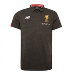 2017-2018 Liverpool Media Motion Polo Shirt (Black) - Kids