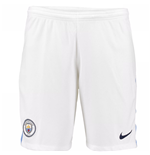 2017-2018 Man City Home Nike Football Shorts (White)