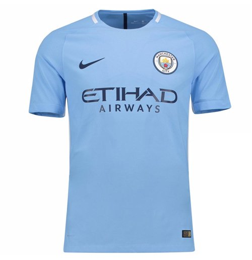 2017-2018 Man City Home Nike Football Shirt