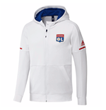 2017-2018 Lyon Adidas Anthem Jacket (White)